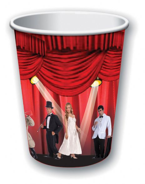 At the Movies 9oz Cup (8pcs) Hollywood Famous Star Film Party Disposable